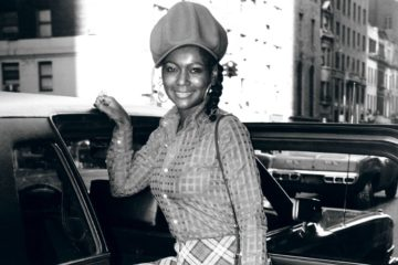 Sylavia Robinson sur une photo en noir et blanc